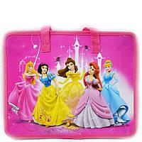 Сумка портфель на молнии Принцессы с тканевыми ручками