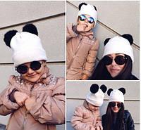 """Детская шапка для девочки """"Пандочка"""""""