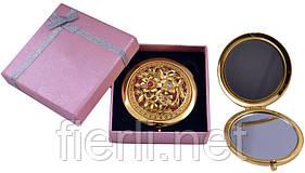 """Зеркальце в подарочной упаковке """"Испания"""" золото №7006-10-2"""