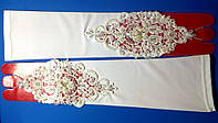 Перчатки невесты открытые-д