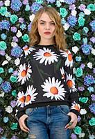 Молодежный свитшот в цветочный принт k-t6104598
