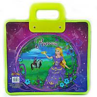 Сумка портфель на молнии Princess world пластиковые ручки