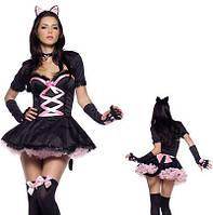 """Игровой костюм для взрослых """"Черная кошечка"""""""