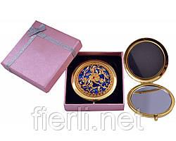 """Зеркальце в подарочной упаковке """"Испания"""" золото №7006-10-3"""