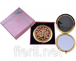 """Зеркальце в подарочной упаковке """"Испания"""" золото №7006-10-4"""