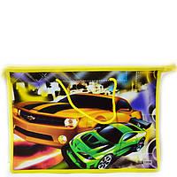 Сумка портфель на молнии с тканевыми ручками Авто