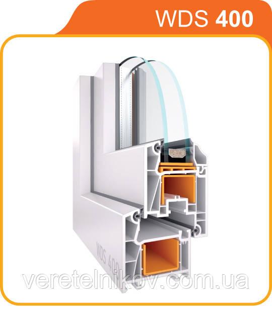 """Окна металлопластиковые """"WDS - 400"""" (ВДС - 400)."""