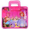 Сумка портфель на молнии Принцесса София пластиковые ручки