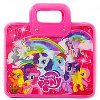 Сумка портфель на молнии My Little Pony пластиковые ручки