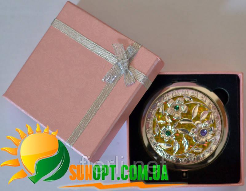 """Зеркальце в подарочной упаковке """"Испания"""" золото №7006-10-8"""