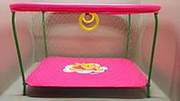 """Малиновый Винни: Манеж усиленный детский игровой KinderBox """" ЛЮКС с крупной сеткой """""""