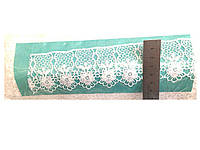 Кружево вязаное белое, ширина 5 см, 14,5м в рулоне