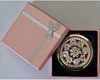"""Зеркальце в подарочной упаковке """"Испания"""" золото №7006-8-1"""