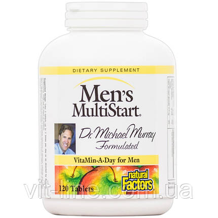 Natural Factors, Комплекс мультивитаминов «MultiStart» для мужчин старше 50 лет, 120 таблеток, фото 2