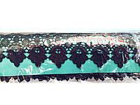 Кружево вязаное черное, ширина 5 см, 14,5м в рулоне