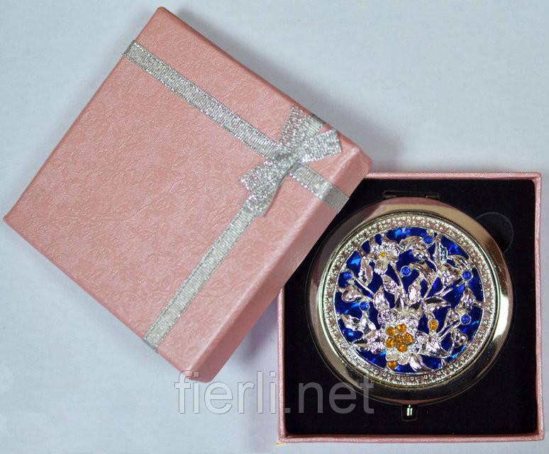 """Зеркальце в подарочной упаковке """"Испания"""" золото №7006-8-12"""