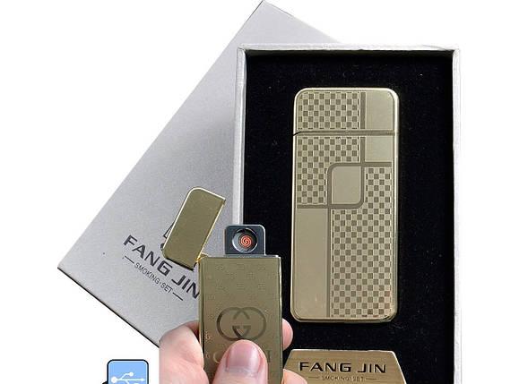 """Спиральная USB зажигалка """"Fang Jin"""" №4796С-5, модный и практичный гаджет, работает в любую погоду, фото 2"""