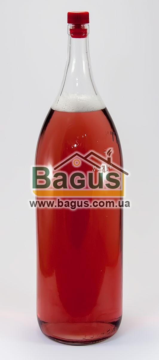 """Бутылка стеклянная 3,075л """"Четверть"""" с пластиковой пробкой"""