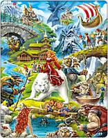 Пазл рамка-вкладыш Сказки Европы Lasren серия Макси (US23)
