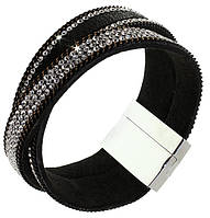 Стильный браслет напульсник с кристаллами