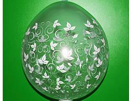 """Шар упаковка прозрачный """"Листочки"""" Размер:18""""(45см). Пр-во:""""Gemar Balloons"""" (Италия)"""