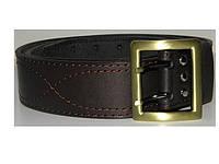 Ремень офицерский кожаный коричневый вч002