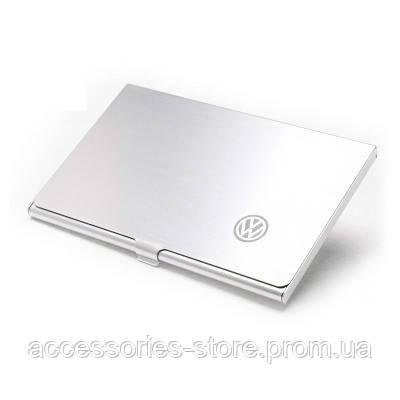 Алюминиевый футляр для визитных карточек Volkswagen Business Card Case, Aluminium, Silver