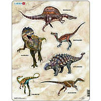 Пазл рамка-вкладыш Lasren - Динозавры