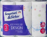 Кухонні рушники 3-шарові Saugstark&Sicher Küchentücher 3-lagig, 240 Bl