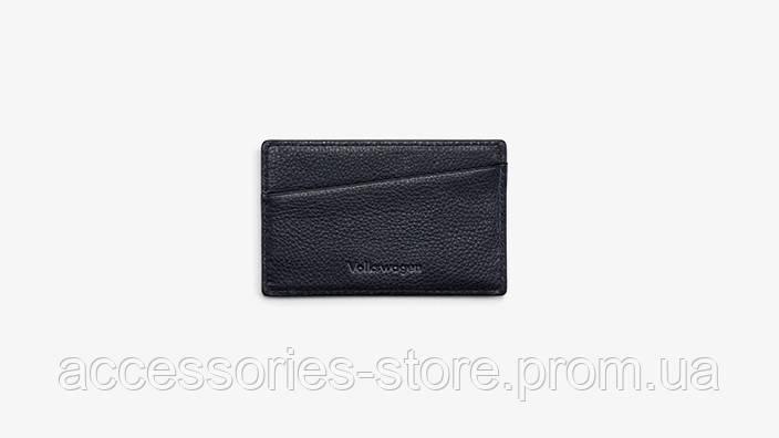 Кожаный футляр для визиток Volkswagen Business Card Case, Leather, Black