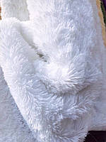 """Покрывало-плед  из искусственного меха """"Мишка"""" 220 на 240 .Белоснежное покрывало с длинным ворсом."""
