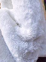 """Покривало-плед  из искусственного меха """"Мишка"""" 220 на 240 .Белоснежное покривало с длинным ворсом."""