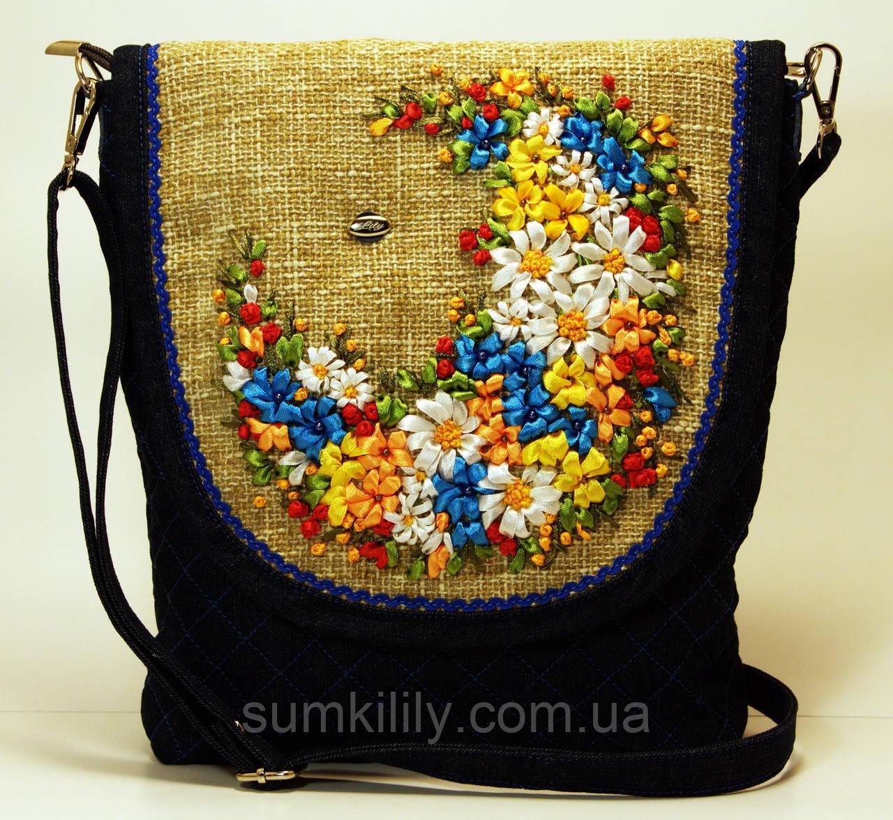 Женская джинсовая сумочка Оксана