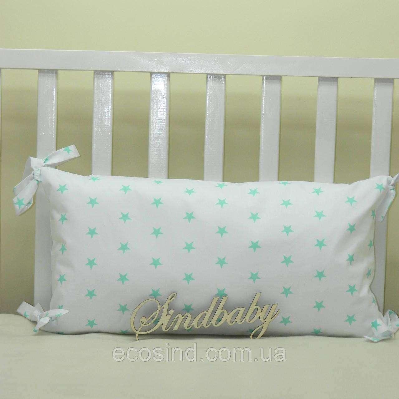 Бортики подушки в кроватку, Подушка 30х60 -24