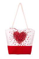Сумка текстильная Сердце