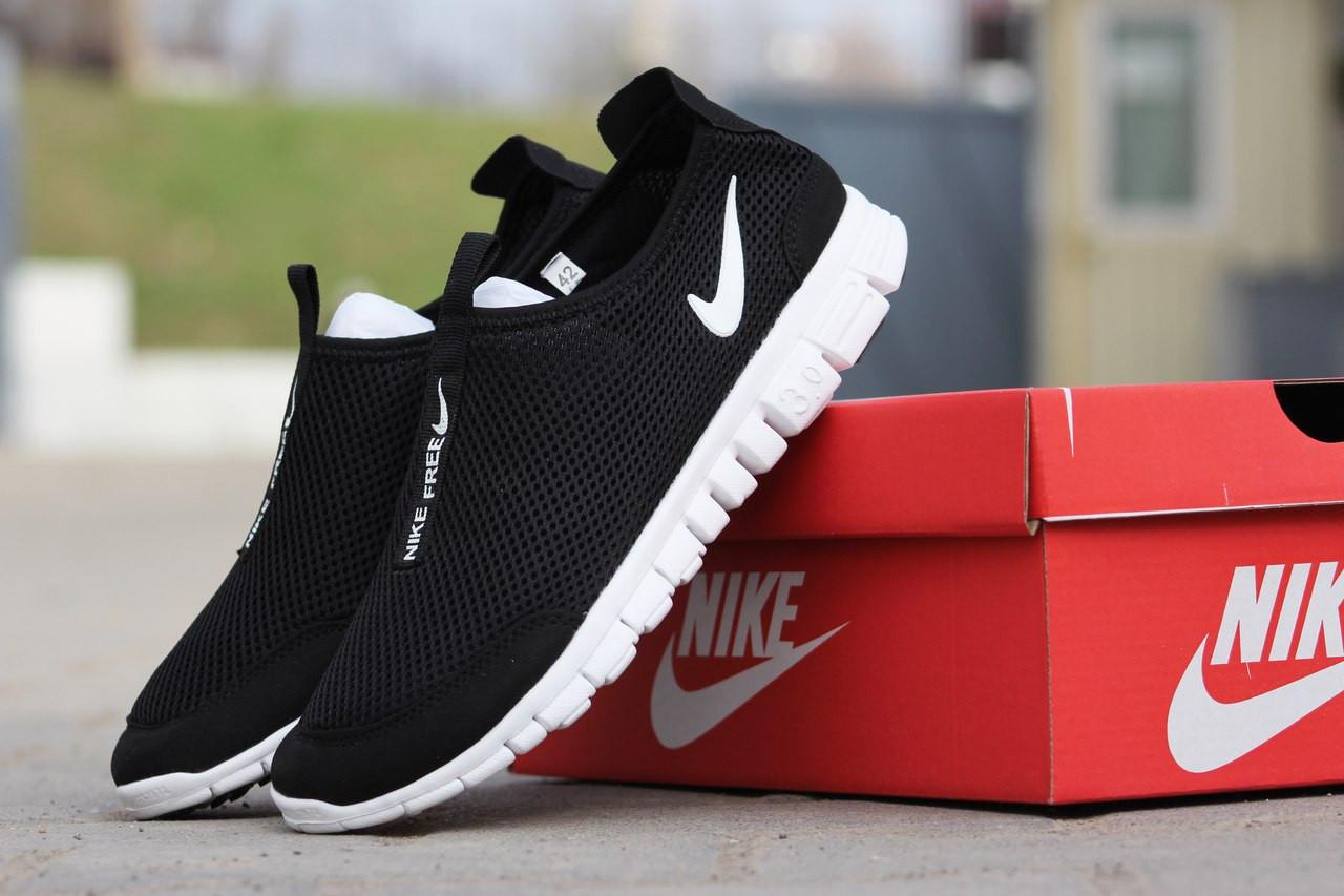 909bdddb Nike Free Run 3.0 мужские кроссовки тканевые черные (Реплика ААА+) ...