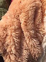 """Покрывало-плед  из искусственного меха """"Мишка"""" 220 на 240. Длинный ворс. Персикового  цвета., фото 1"""