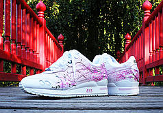 "Женские кроссовки Asics Gel Lyte III ""Sakura"" Customs by Rudnes топ реплика"