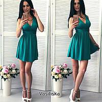 Короткое нарядное вечернее платье