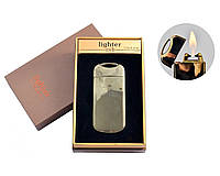 """Газовая USB зажигалка с электроимпульсным поджигом """"Gold"""" №4805-5, газ и электроимпульс, подарок коллегам"""
