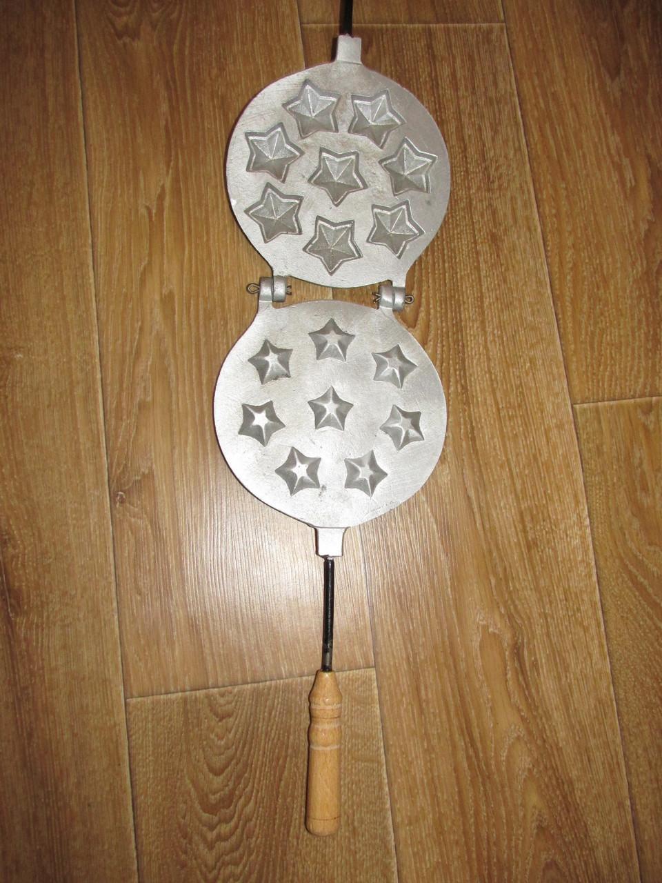 Алюминиевая форма для приготовления печенюшек звездочек