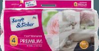 Туалетний папір Преміум 4-шарові Sanft&Sicher Toilettenpapier Premium 4-lagig, 10x160 Bl, 1600 Bl