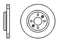 Диск гальмівний вентильований 259 мм PROFIT - 5010-1096