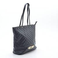 Женская стеганая сумка черная MOSCHNIV