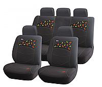 Чехлы сидения Hadar Rosen BUTTERFLIES черный (Ткань-полисэт) №10226