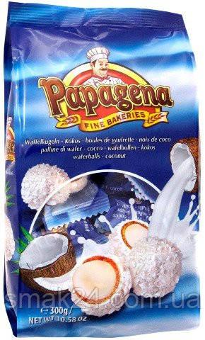 Конфеты кокосовые Papagena (Папагена вафельные шарики в кокосе с кокосовым кремом внутри) Австрия 300г