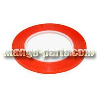 Прозрачный акриловый двухсторонний скотч (красный 1 мм)
