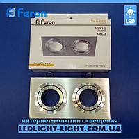 Врезной точечный светильник Feron DL 6122 поворотный алюминий mr 16, фото 1