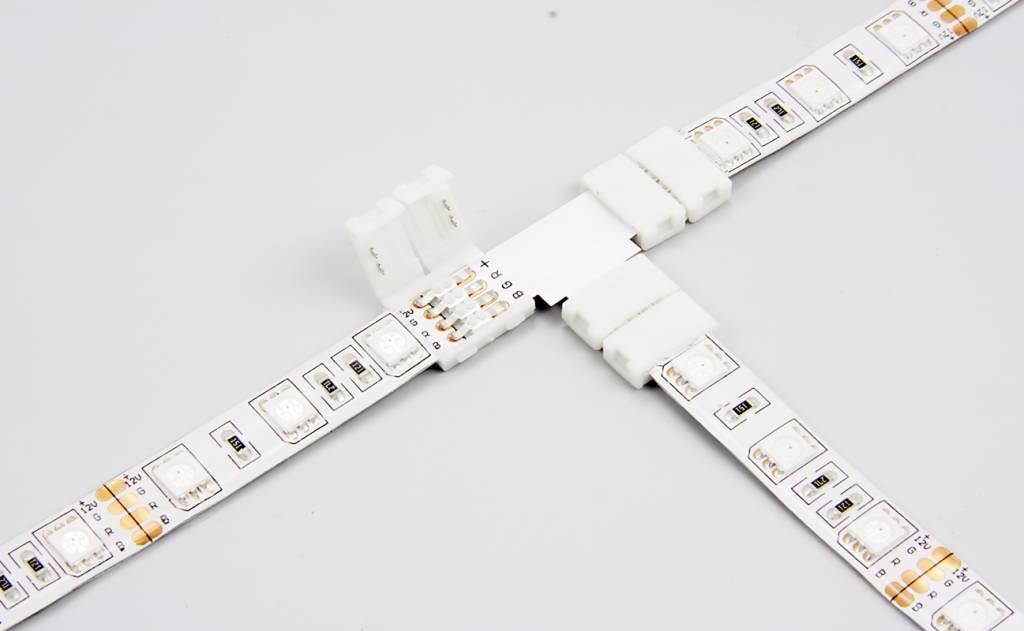 Коннектор T-образный для светодиодной ленты SMD 5050 RGBW