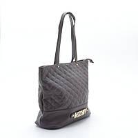 Женская стеганая сумка коричневая MOSCHNIV